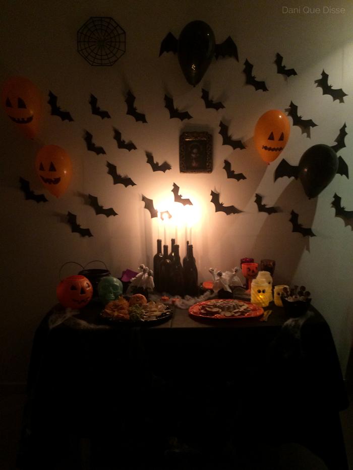 Ideias fáceis para uma festa de Halloween em casa Dani Que Disse # Decoração De Festas De Halloween